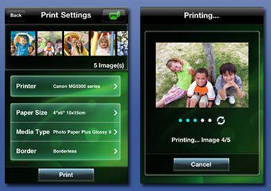 Vezeték nélküli AirPrint nyomtatás Canon nyomtatókkal