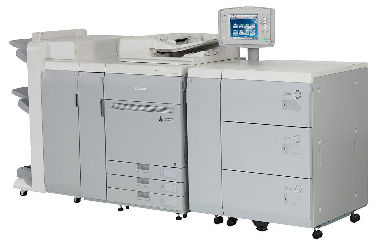 Új, imagePRESS C800 sorozatú, íves nyomtatásra képes Canon nyomtatók